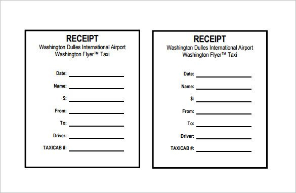 Receipt Template Doc For Word Documents In Different Types Within Blank Taxi Receipt Template Receipt Template Invoice Template Word Invoice Template