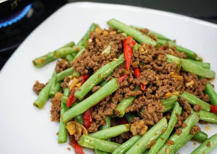 Resep Tumis Buncis Daging Cincang Oleh Norma Di Madya Resep Resep Makanan Daging Cincang Tumis