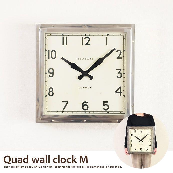大型時計 Quad Clock M Wall。ニューゲート社 New Gate アンティーククロック レトロ
