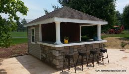 Photo Gallery Gallery Image 487 Homestead Structures Pool Houses Bar Shed Backyard Bar