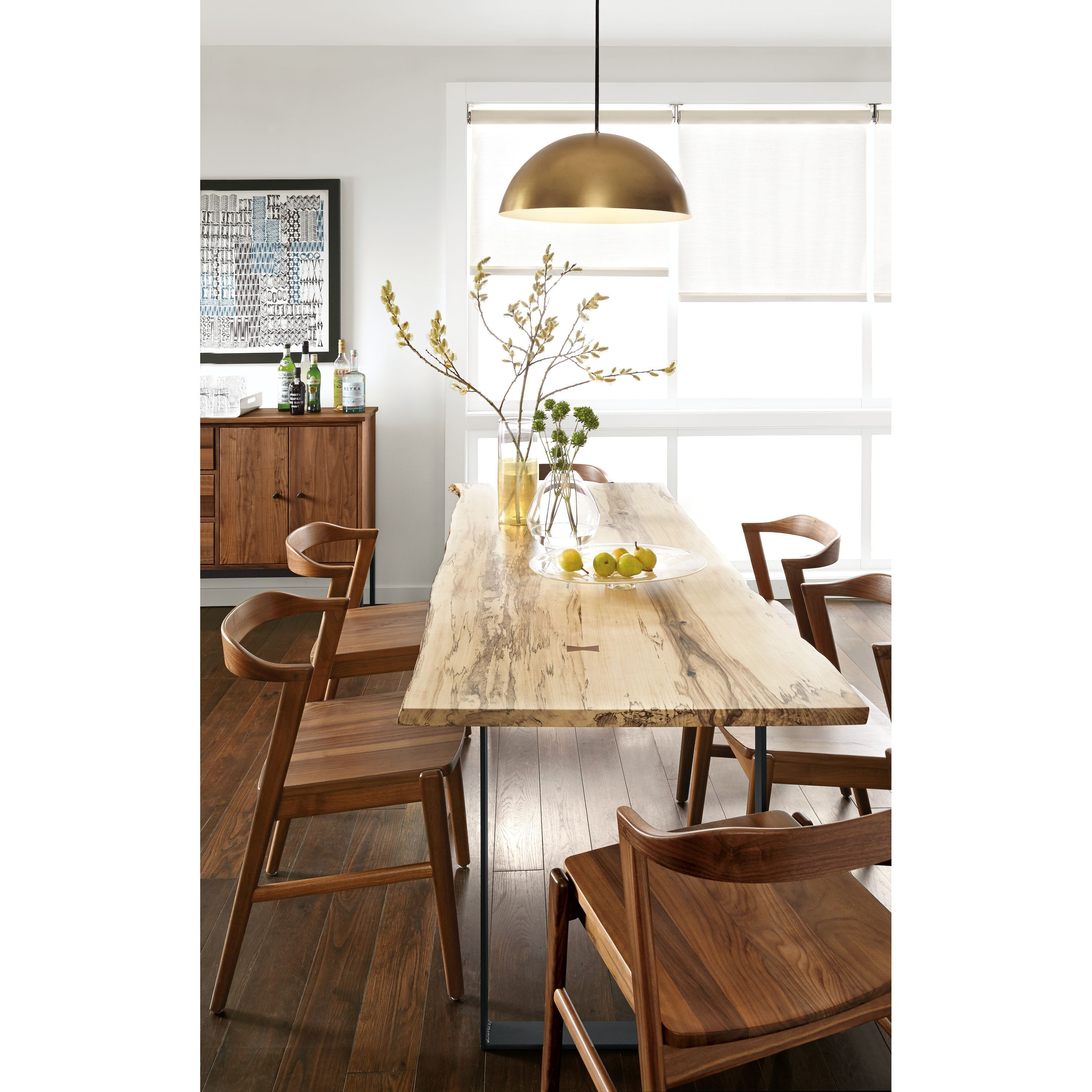 Linear Storage Cabinets Modern Armoires Dining Room Kitchen Furniture Board Wood Chairs