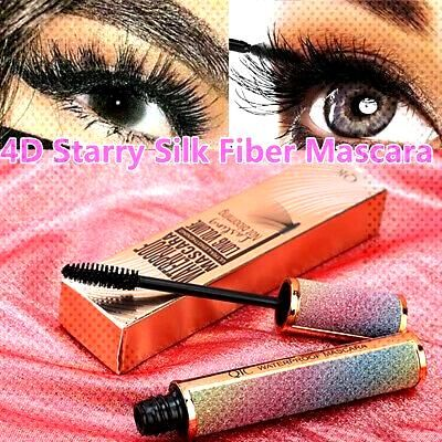 Waterproof 4D Starry Mascara Silk Fiber Thick Eyelashes Lengthening Curling