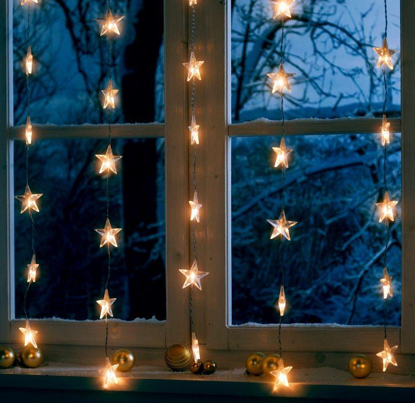 Sternenvorhang Lichterkette am Fenster | weihnachten ° christmas ...