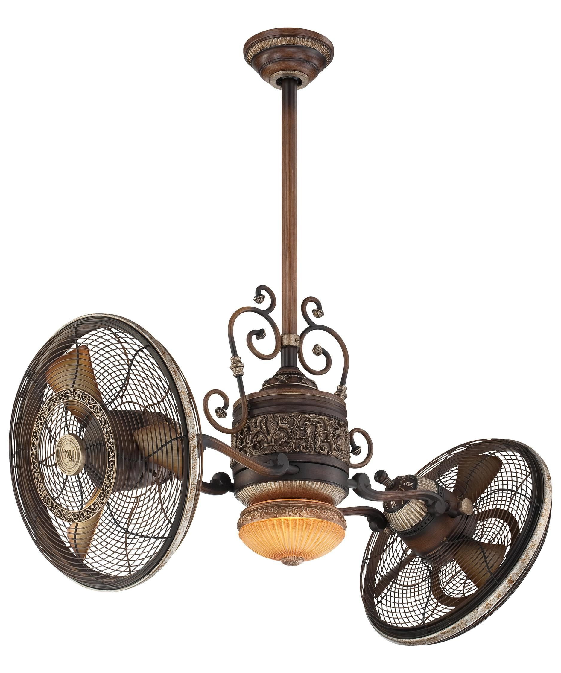 Traditional Gyro 42 Inch Multi Head Ceiling Fan With Light Kit By