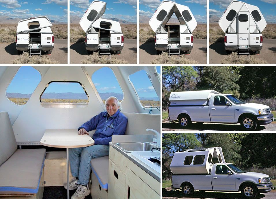 Quickupcamper Prototype Truck Bed Camping Pickup Camping Truck