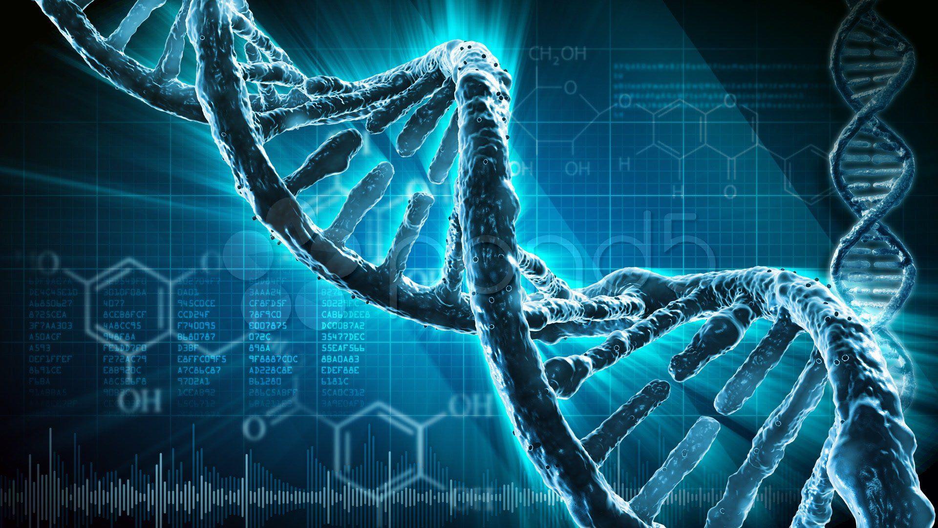 3D DNA Wallpaper