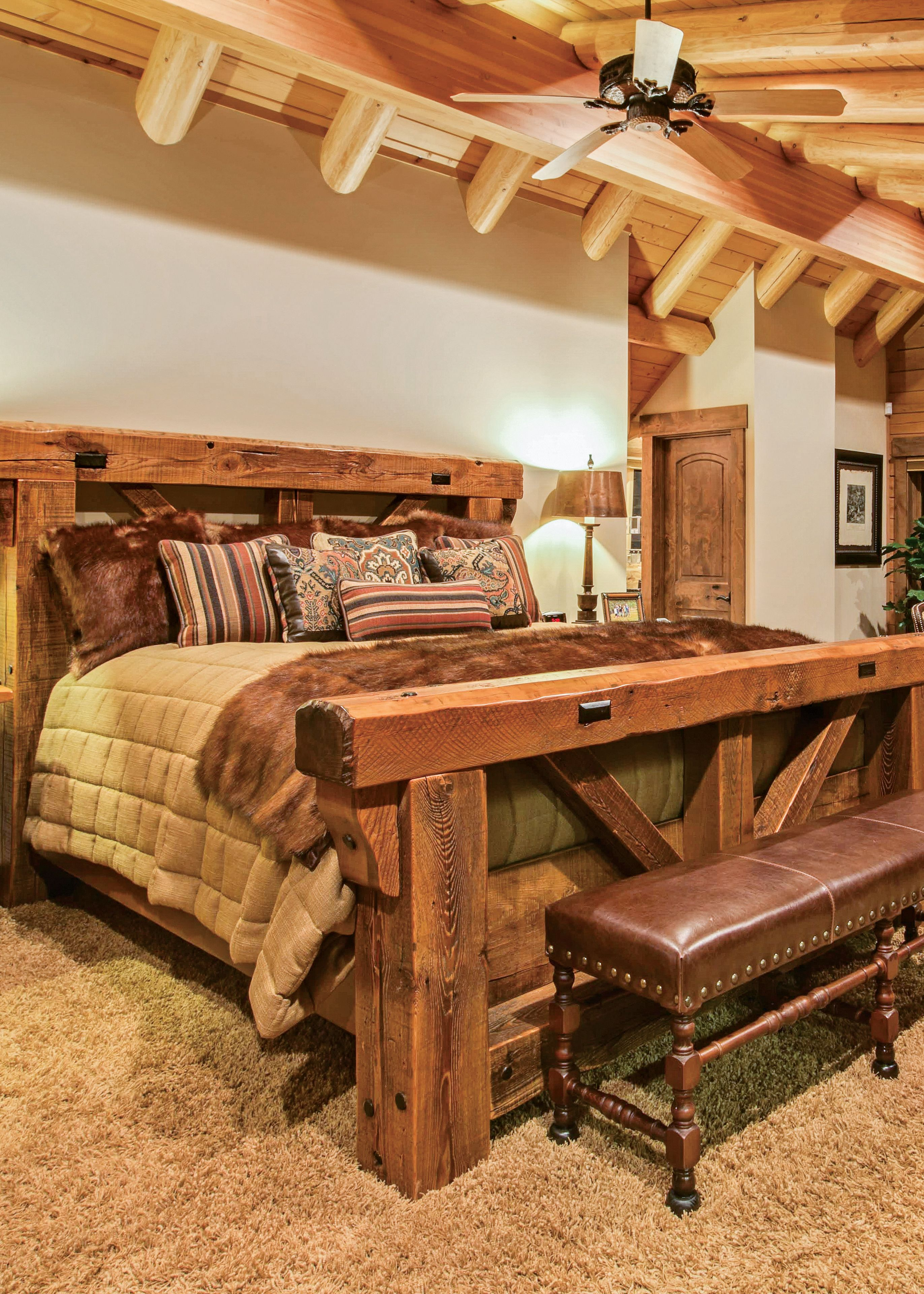 These Five Log And Timber Frame Bedrooms Will Guarantee A Restful Sleep Rustic Bedroom Furniture Log Home Bedroom Log Bedroom Furniture
