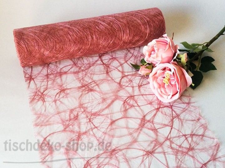 Sizoweb Tischband Altrosa 30cm Breite Auf 25m Vorteilsrolle Altrosa Hochzeit Tischdekoration Hochzeit Altrosa