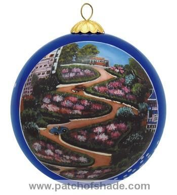 #LombardStreet ornament, #SanFrancisco souvenir, hand painted glass ornament,  $19.99 - LombardStreet Ornament, #SanFrancisco Souvenir, Hand Painted Glass