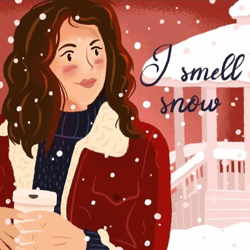 Lorelai/'s Winter Gilmore Girls Character Art Print Luke/'s Diner