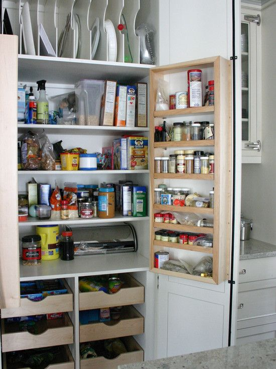 Slotted Storage For Large Serving Platters Cookie Sheets Etc Pantry Design Kitchen Pantry Storage Pantry Storage
