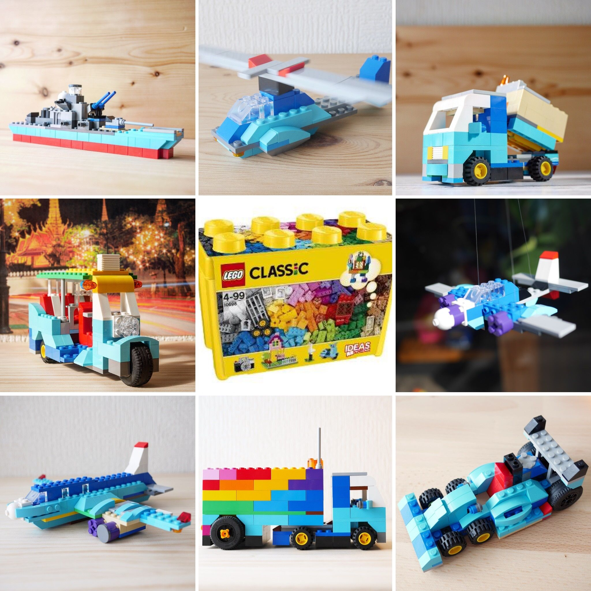 You Can Build Them Only Using Lego Classic 10698 And My Turtorial
