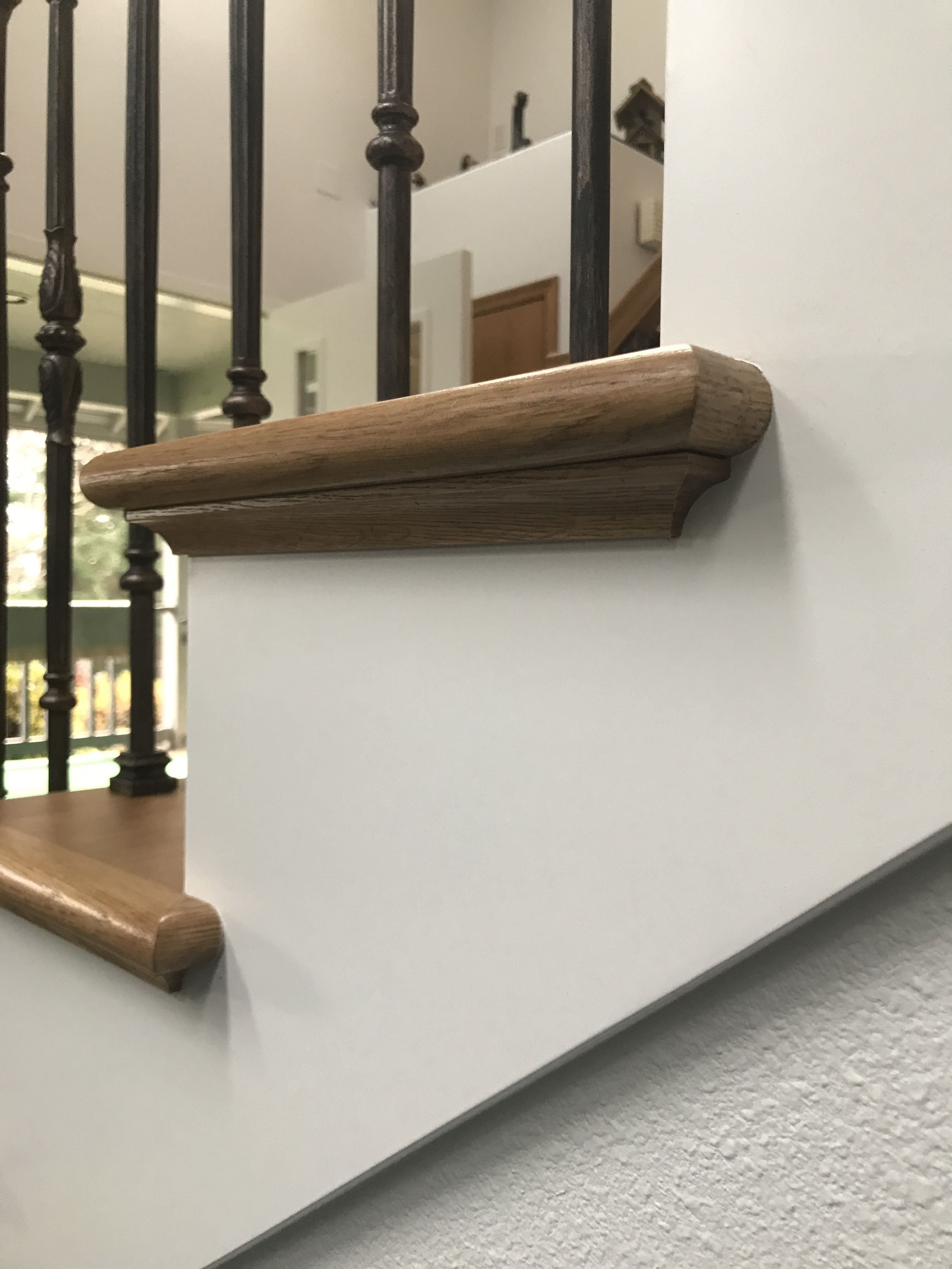 This Is A Traditional Stair Tread Return With Cove Molding View The Detailed Cove And Nosing Returns Into The Skirt Boards P In 2020 Stair Treads Stairs Outdoor Decor