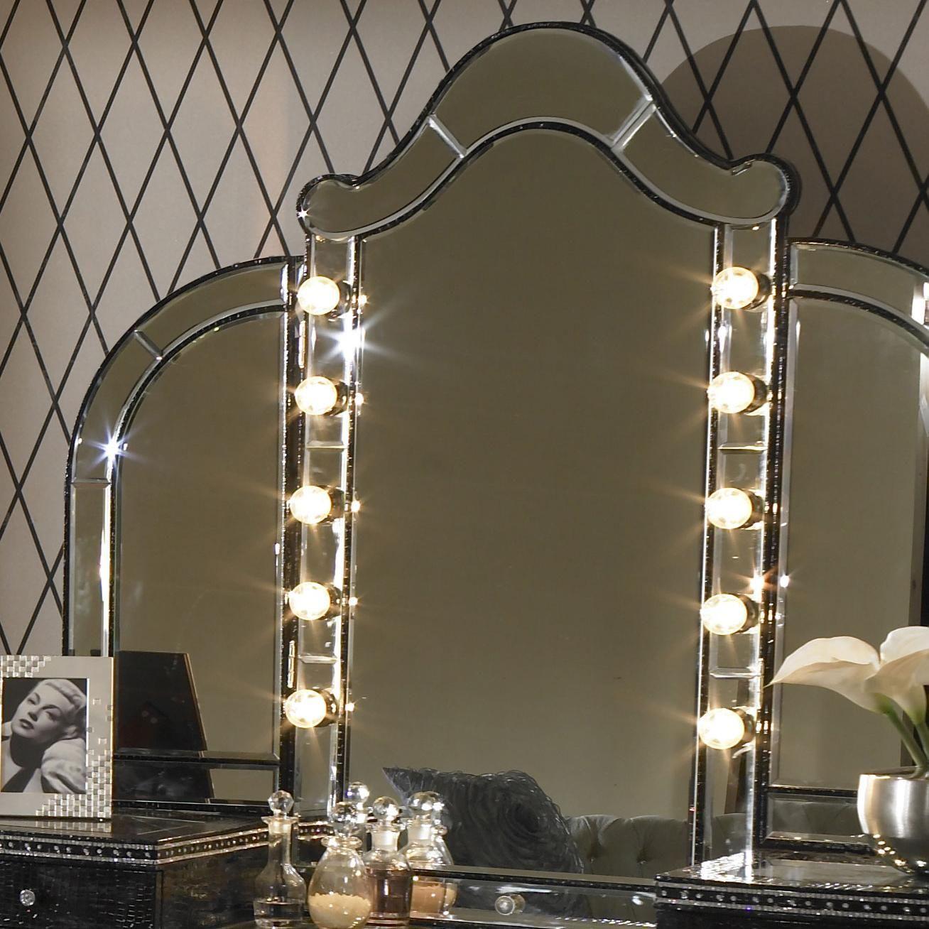 Hollywood Swank Vanity Mirror W Light Bulbs By Aico Amini
