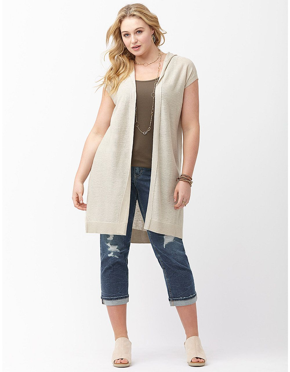 b85f72d2c7f Hooded overpiece by Lane Bryant