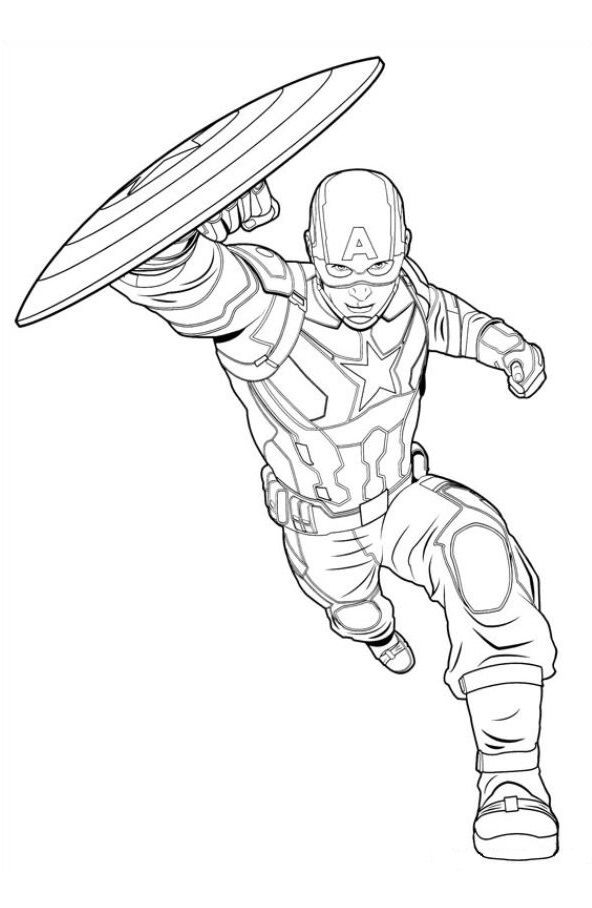 16 Coloring Pages Of Captain America Civil War Avengers Coloring