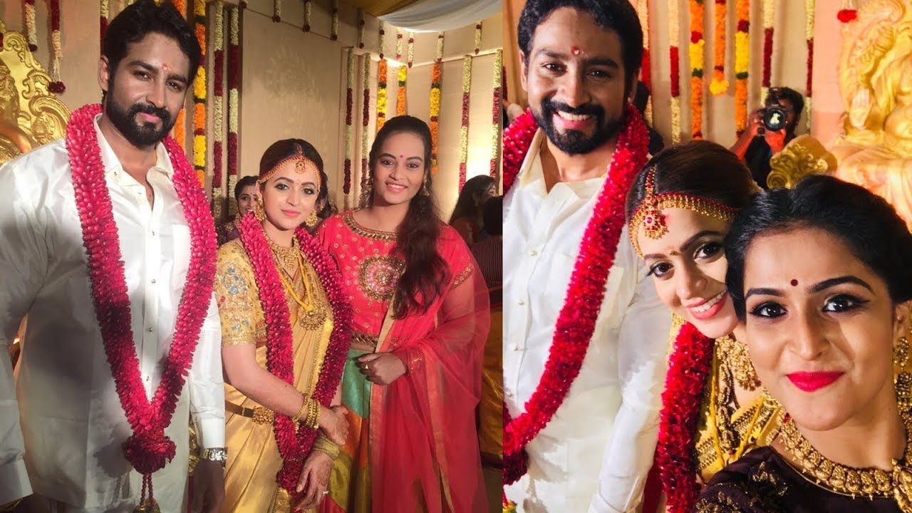 Actress Bhavana and Naveen Exclusive Wedding Photos / Bhavana and ... for Serial Actress Priya Mohan Wedding Photos  570bof