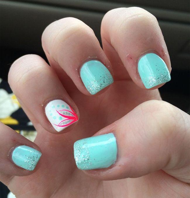 cute summer acrylic small nails