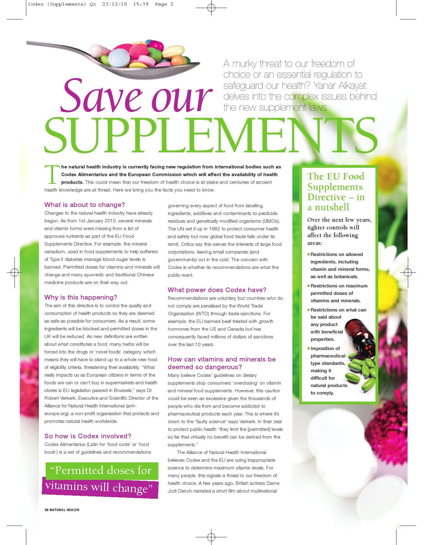 Health magazine articles