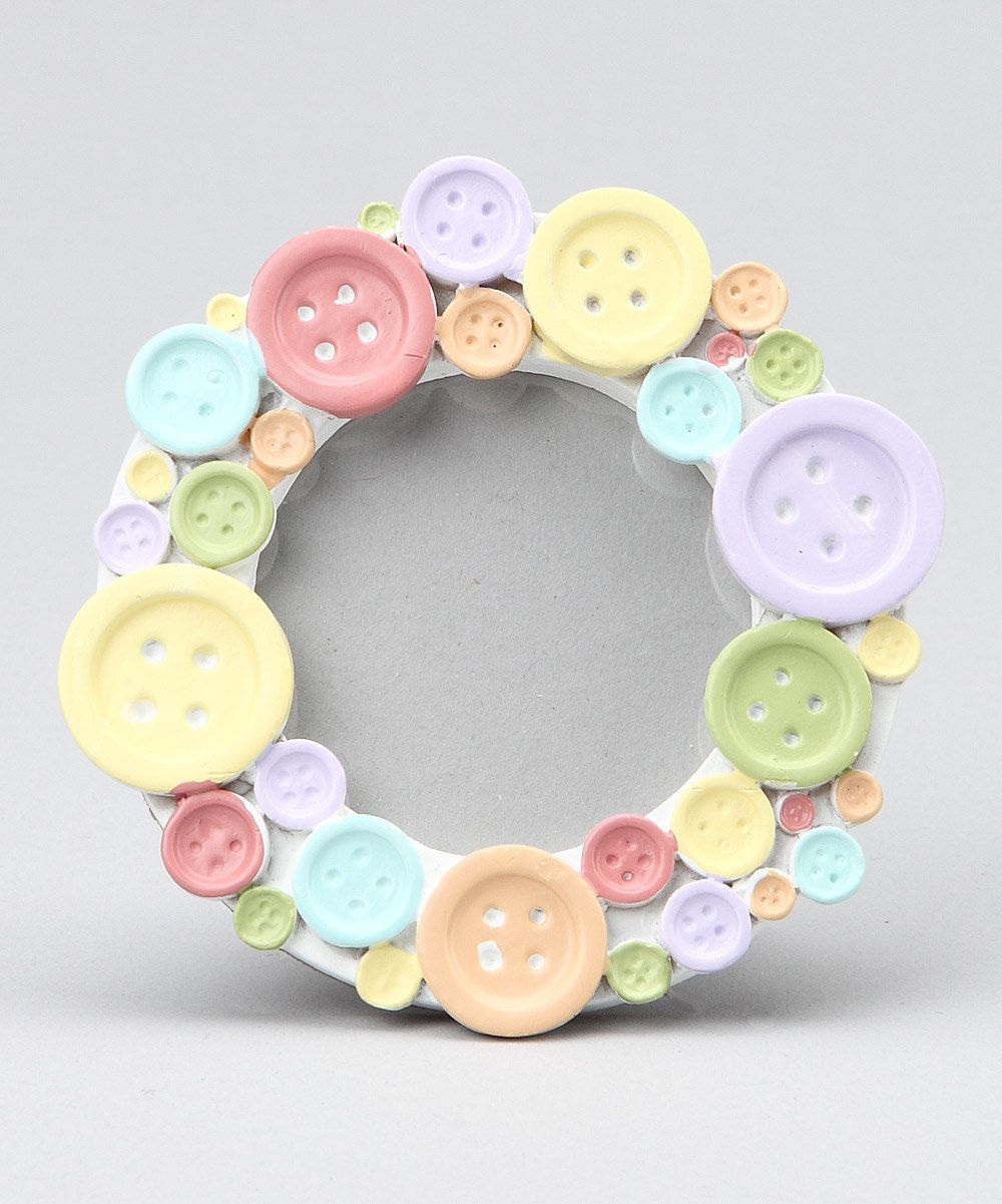 Take a look at this Kate Aspen Cute as a Button Round Photo Frame ...