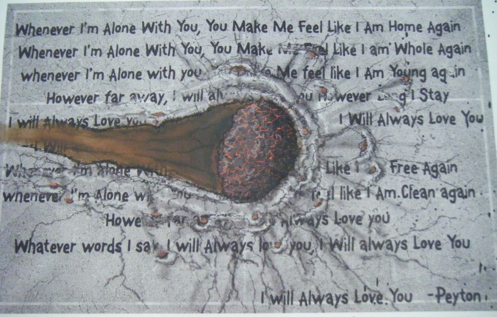 Lyric lyrics to i will always love you by the cure : I always loved Peyton's River Court art! | One tree hill :Peyton ...