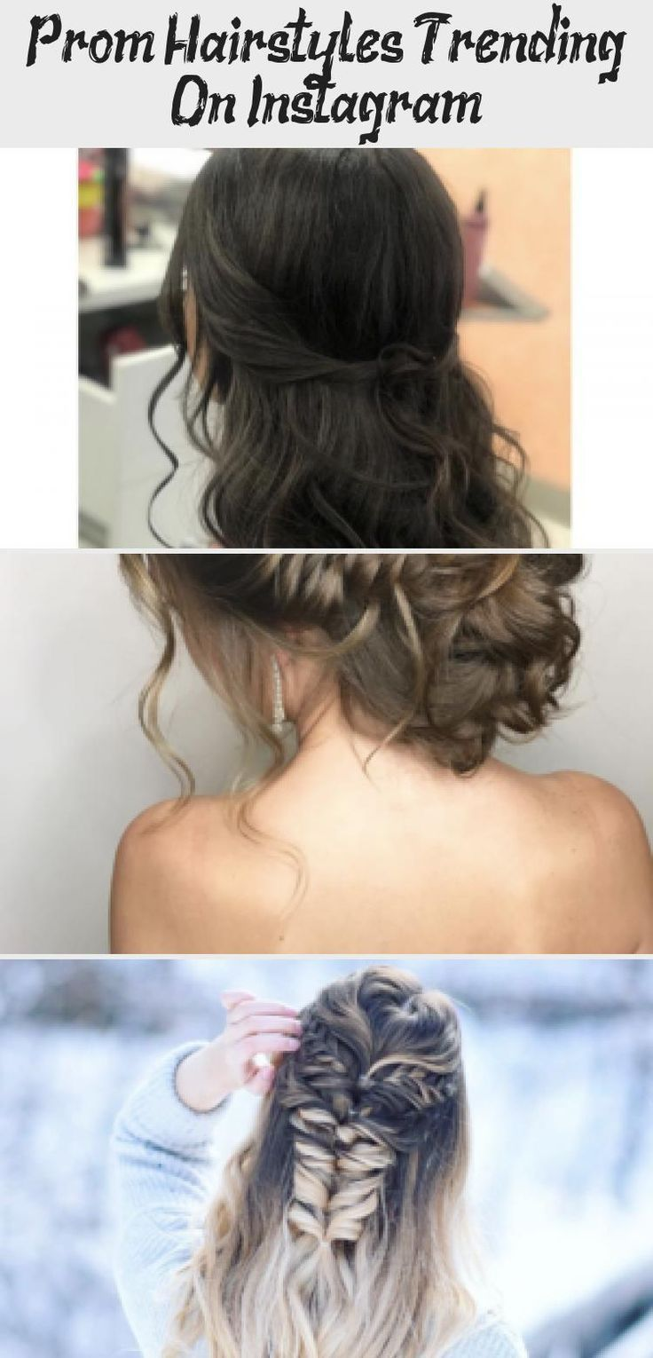 [ Let's face it, ladies. The prom hype is real, and everyone keeps saying it's one of the most important nights of a girl's life...no pressure, right?... # # # loose Braids flat irons Prom Hairstyles Trending On Instagram #loosebraids