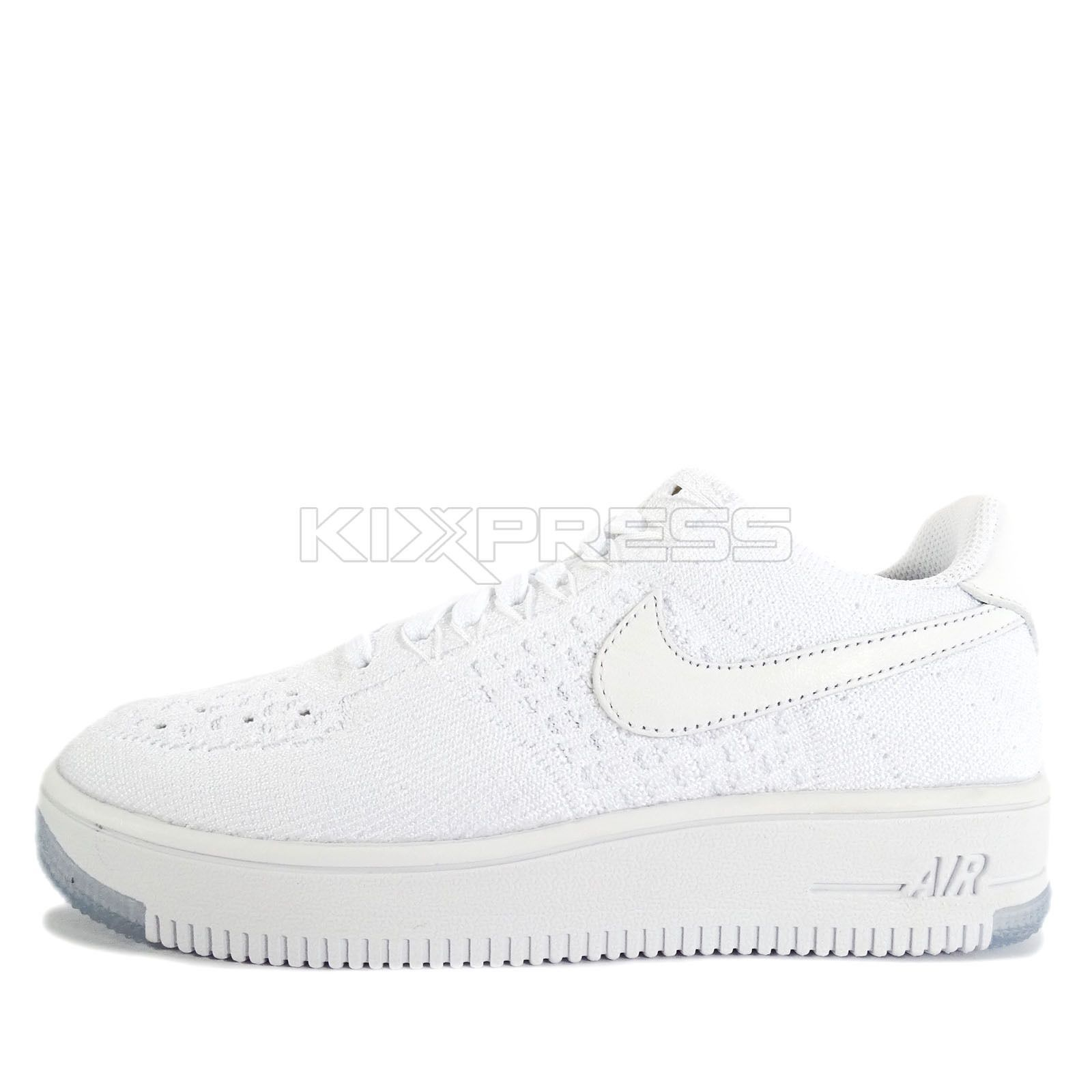 f138146615c6 Nike Wmns Af1 Flyknit Low  820256-101  Nsw Casual Air Force 1 White White
