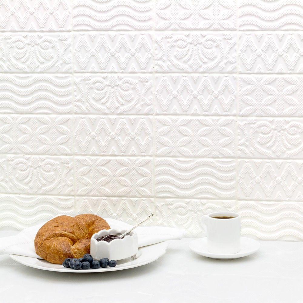 Lancaster Deco 3x6 Bianco Ceramic Tile   TileBar.com   Kitchen ...