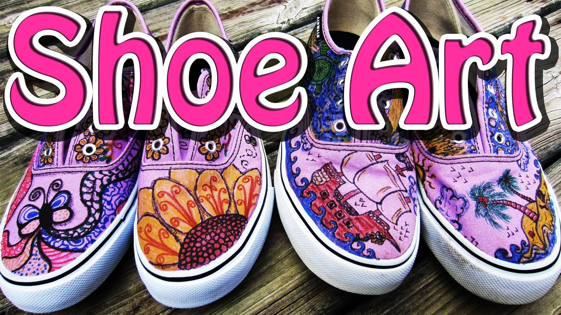 Youtube Create Your Own Shoes Zentangle Designs Diy Shoes