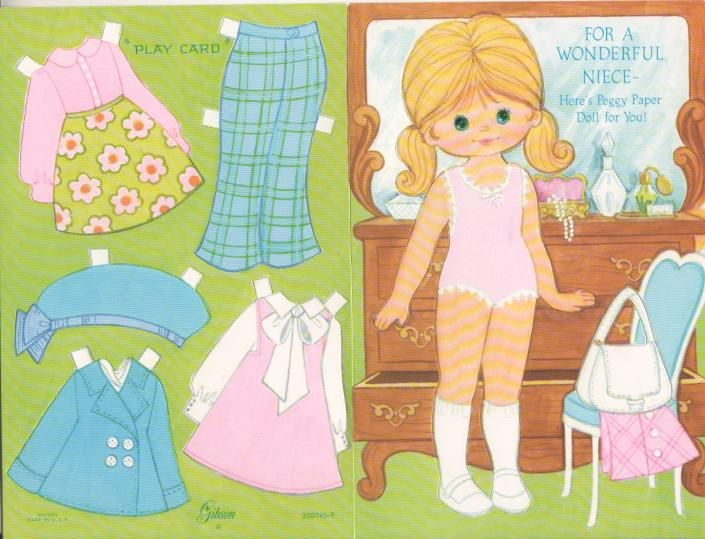 PEGGY PAPER DOLL For Niece Gibson Card