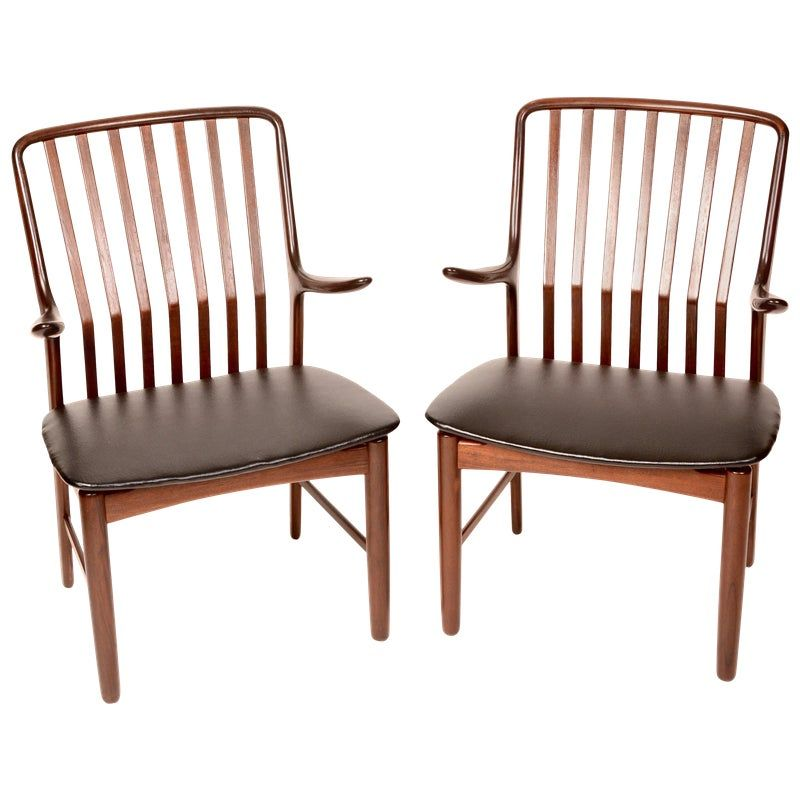 Danish Arm Chairs by Svend A. Madsen for Moreddi - a Pair ...