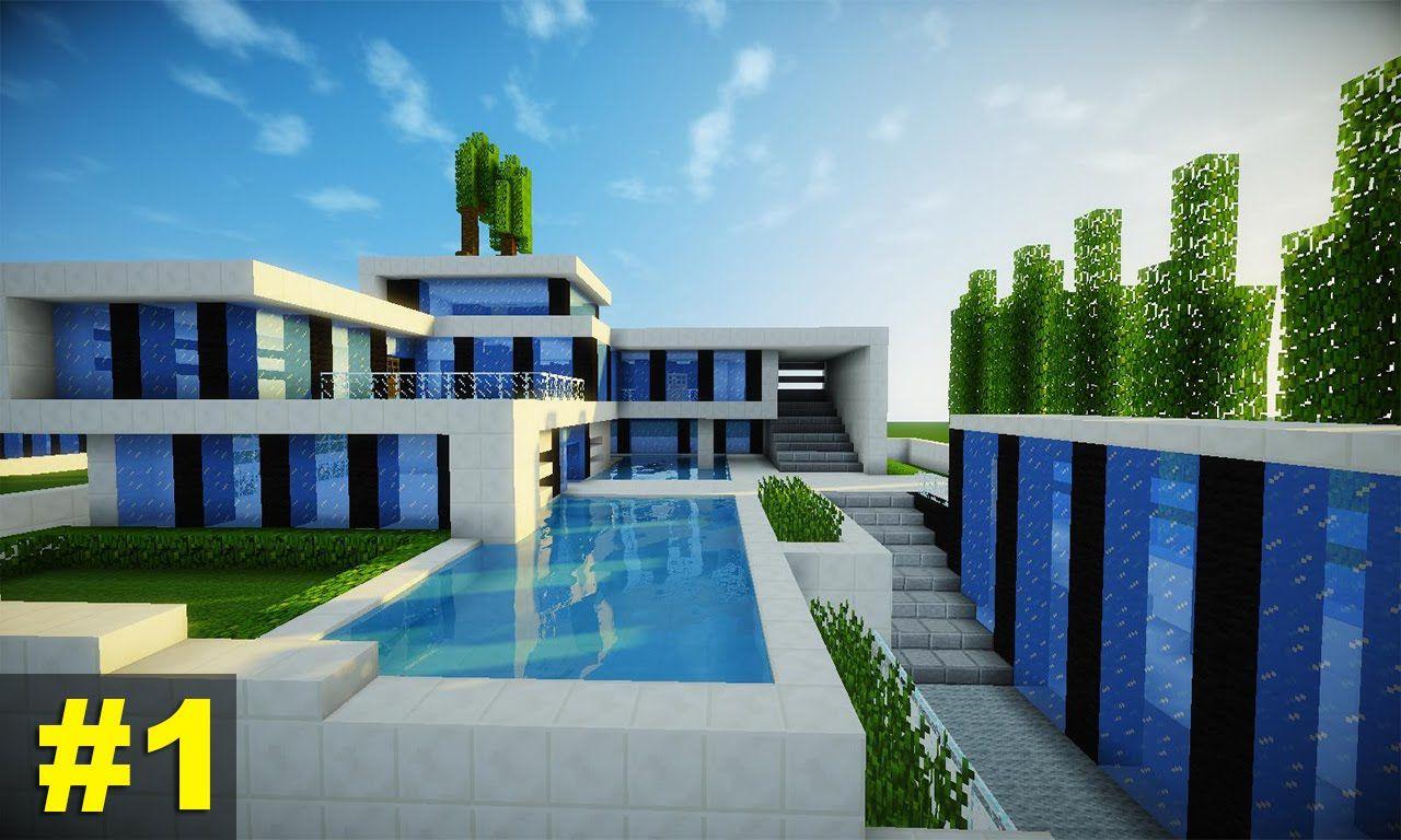 Resultado de imagem para fotos de casas de minecraft for Casa moderna minecraft mirote y blancana