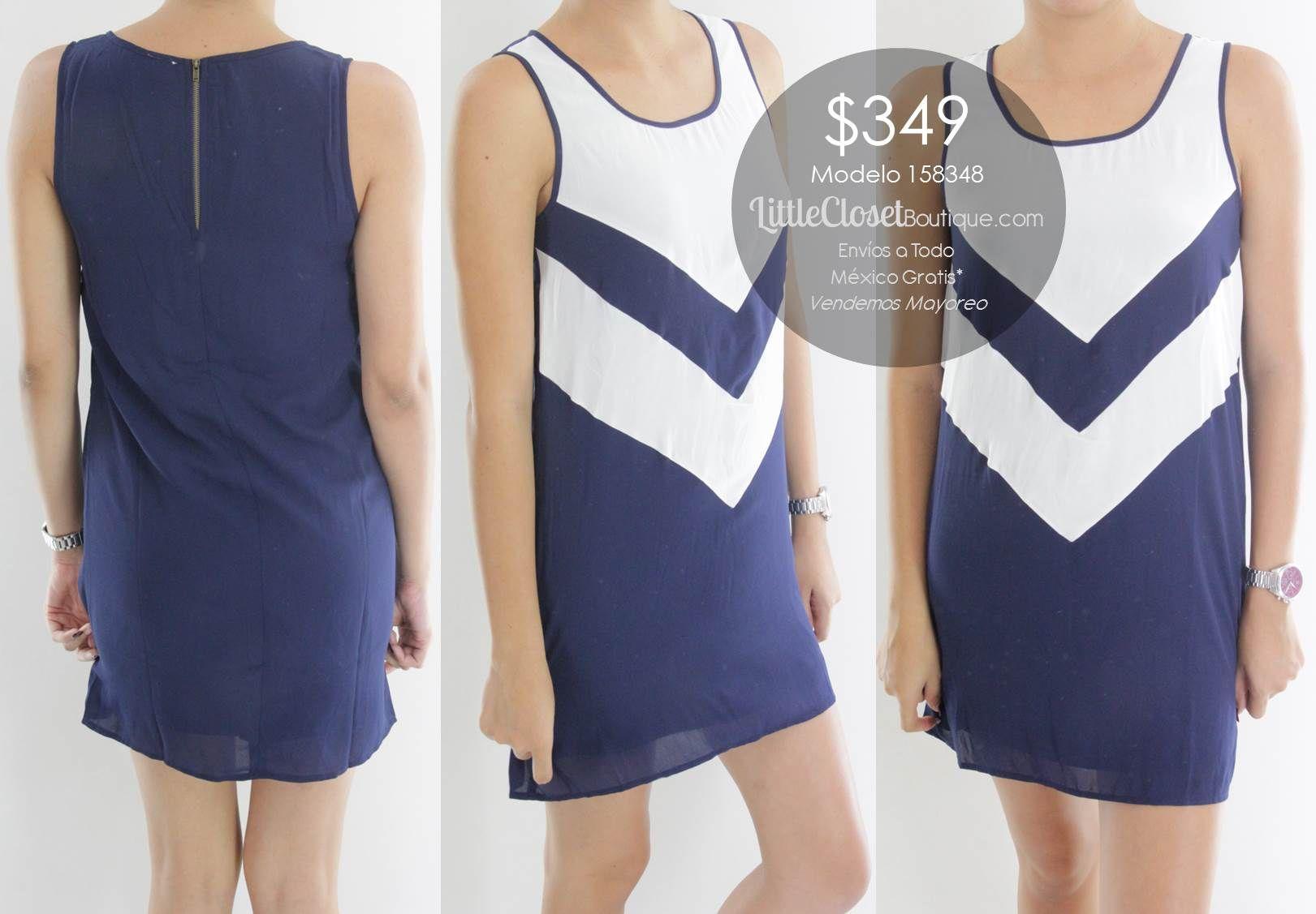 Vestido Azul Blanco Wwwlittleclosetboutiquecom Uñas