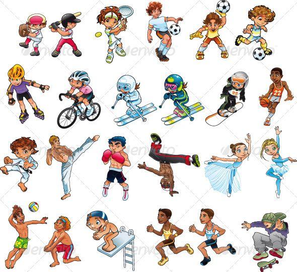 Sports Sport Girl Girl Cartoon Sport Outfits Gym