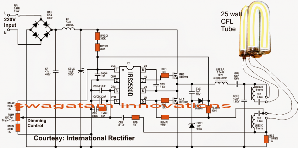 Electronic Ballast Circuit 1024x510 1 Png 1024 510 Circuit Projects