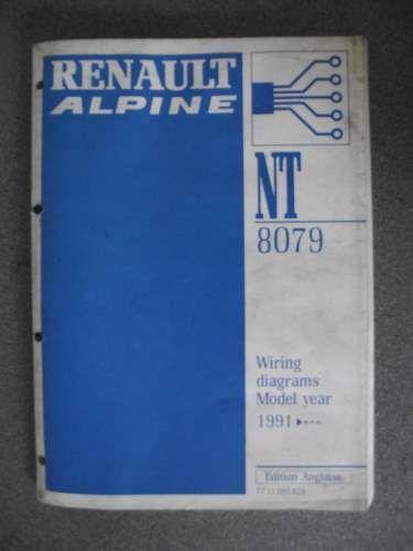 renault alpine wiring diagrams manual 1991 7711095823 nt8079 #