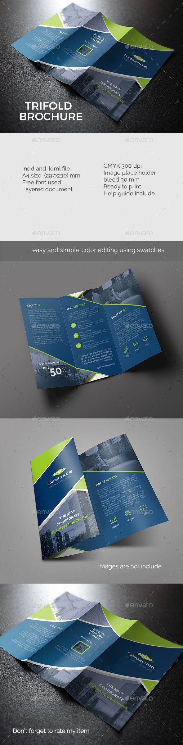 Creative Trifold Brochure Template InDesign INDD. Download here ...