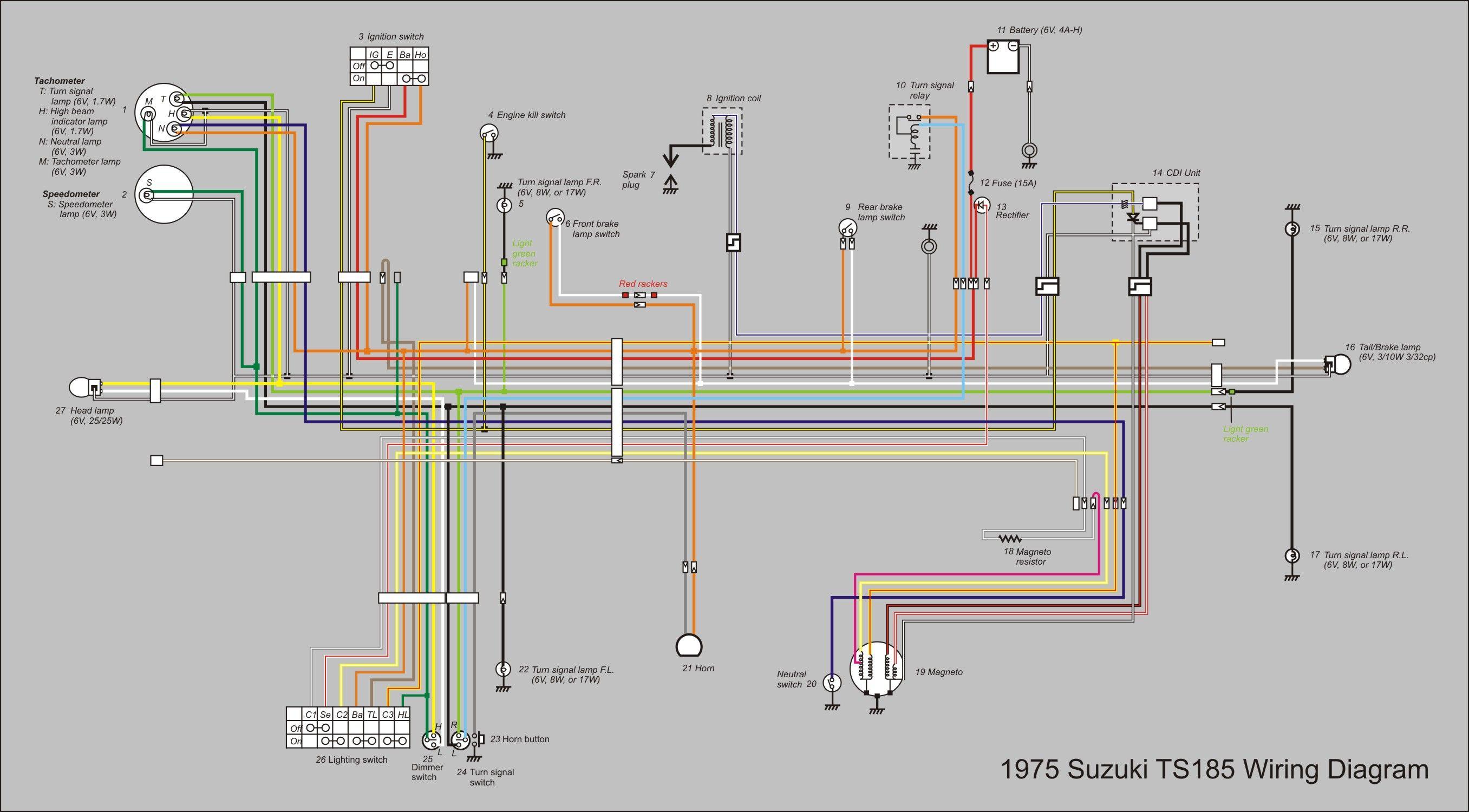 Ts185 Wiring Diagram New 27131500 Vintage Motocrossers Turn Signal