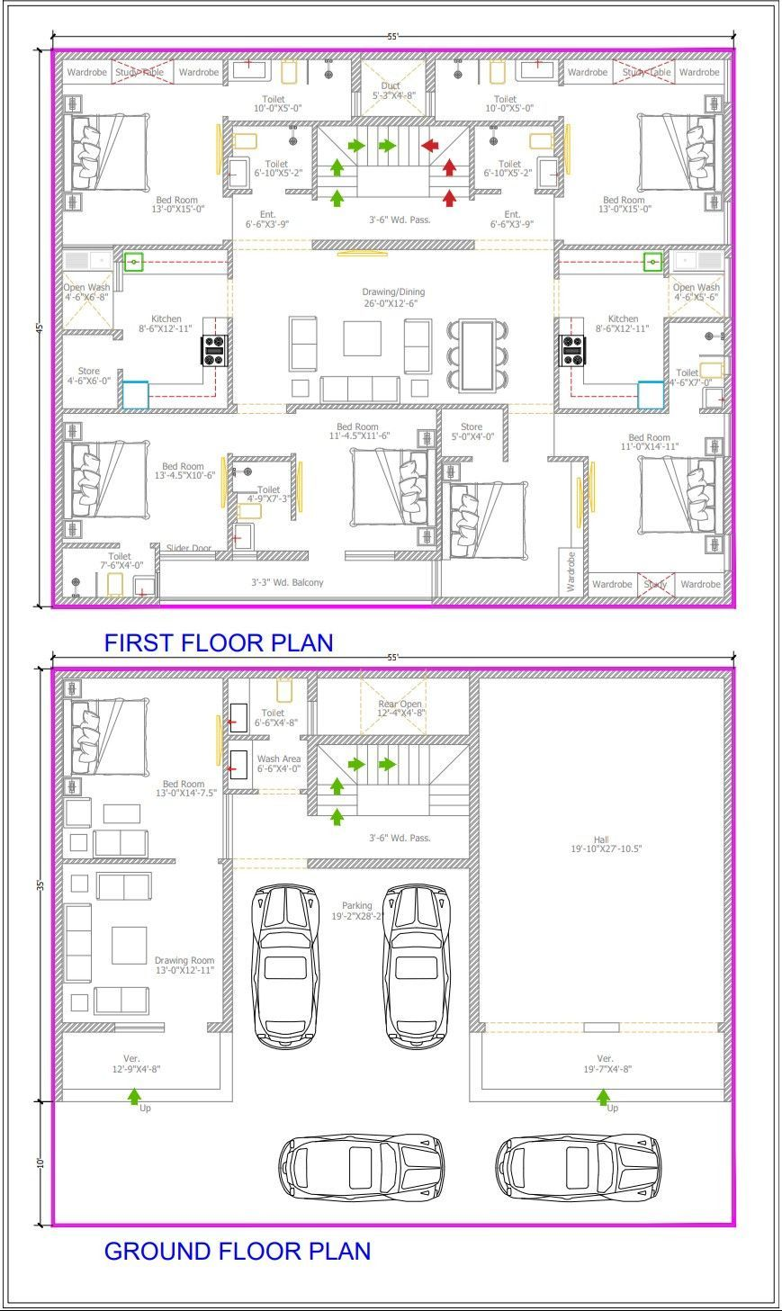 Luxury Duplex House Plans 2021 Duplex House Plans How To Plan Model House Plan