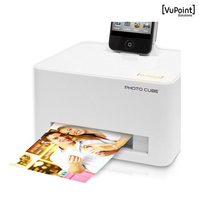 Vupoint Photo Cube Compact Photo Printer For Apple And Android