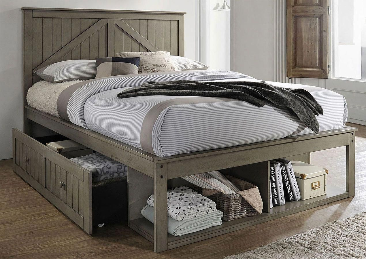 Ashland Youth Storage Bed (Weathered Grey) in 2020 | Bed ...