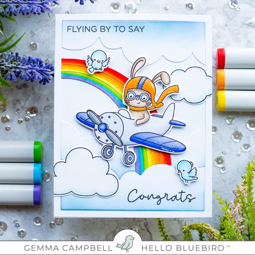 Fly Over The Rainbow With Gemma Hello Bluebird Blog Card Design Handmade Bee Cards Blue Bird