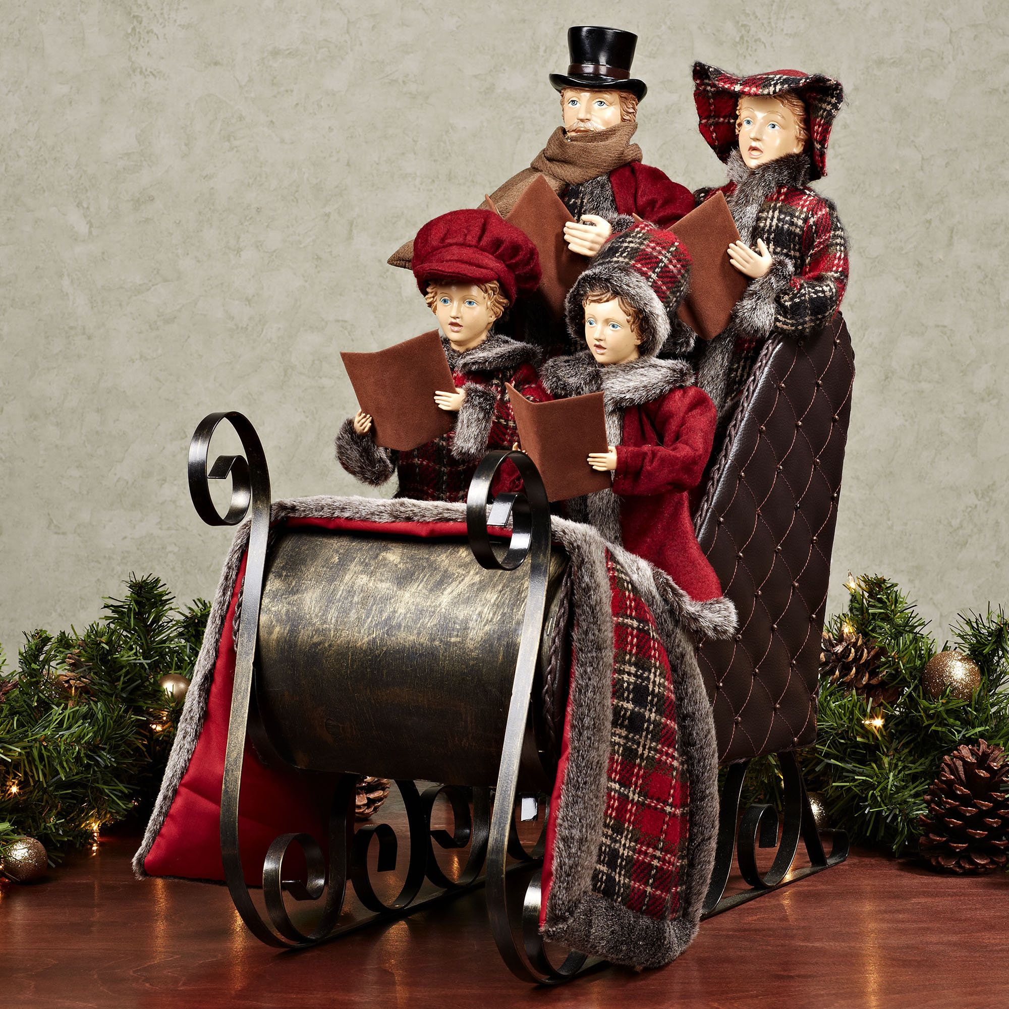 Christmas Caroler Yard Stakes: Victorian Carolers Figurines