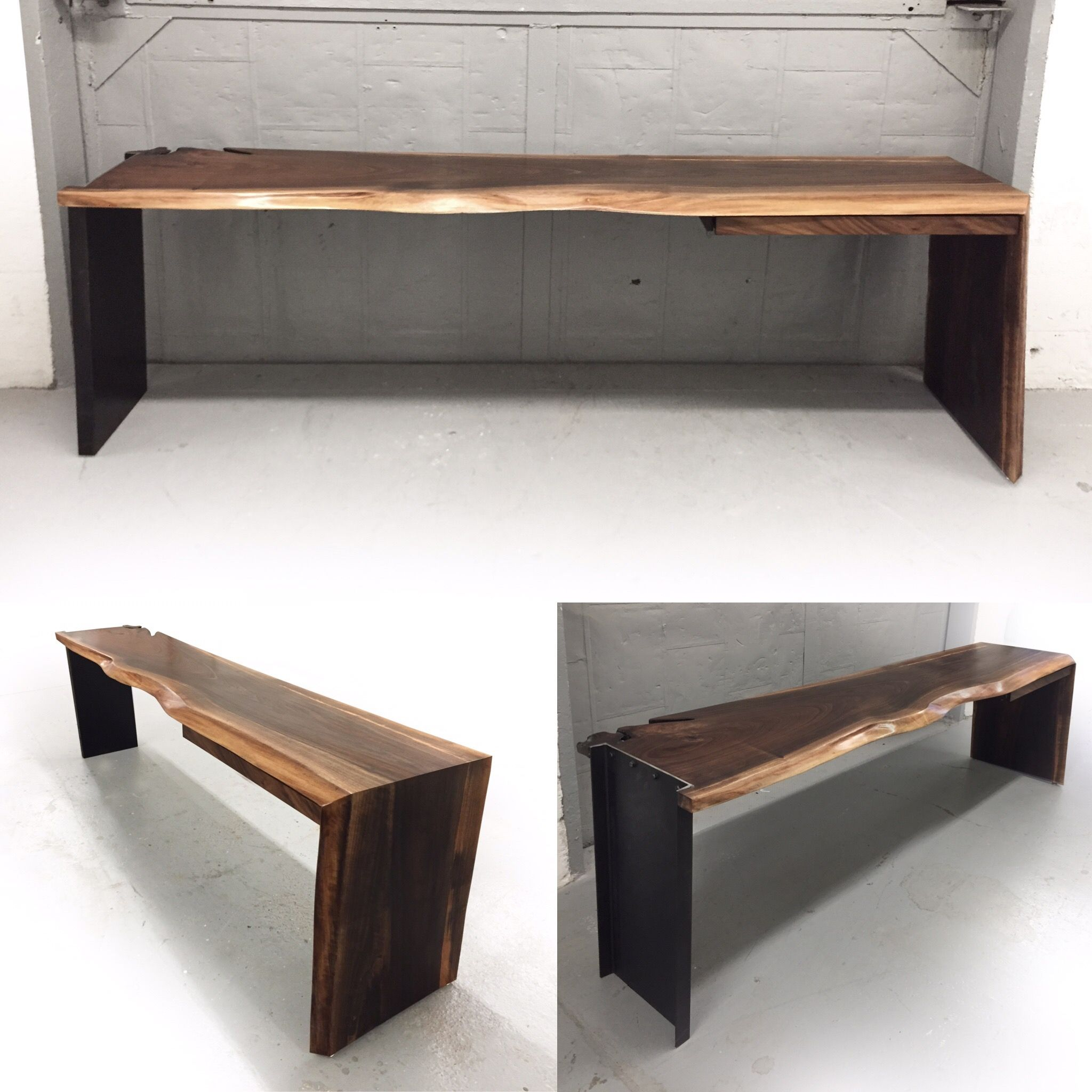 The Powerhouse Desk. On Display At Novado Gallery Live Edge Custom Built  Modern Furniture And