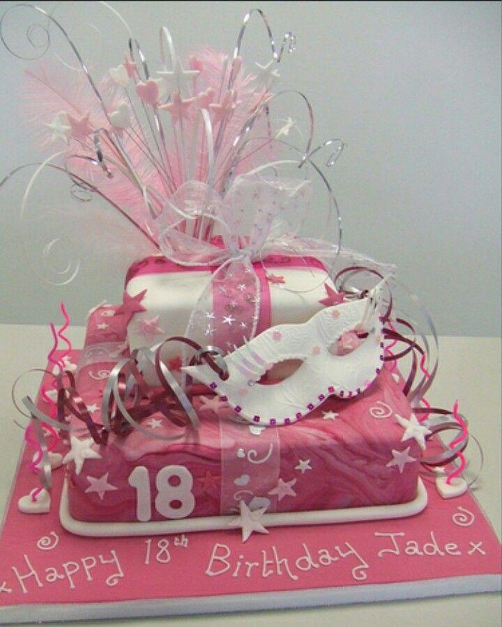 18th Masquerade Birthday Cake Suiker Kuns Pinterest