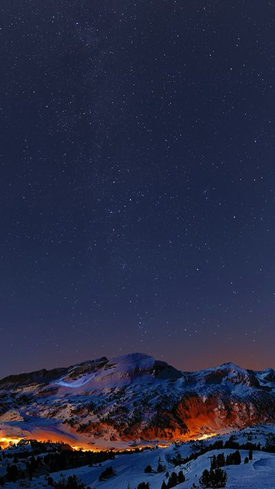 Mountains At Night Wallpaper iPhone 6S Plus Mountains at
