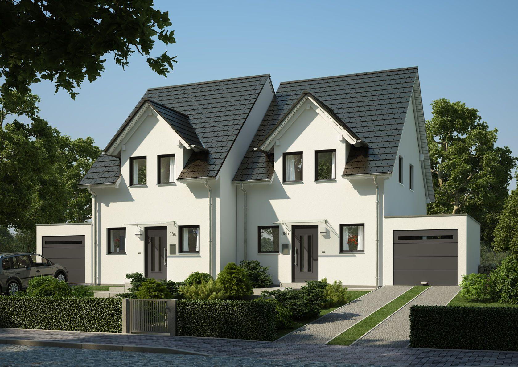 Moderne doppelhäuser satteldach  Bilder und Fotos vom Bauvorhaben Doppelhäuser in Krailling ...