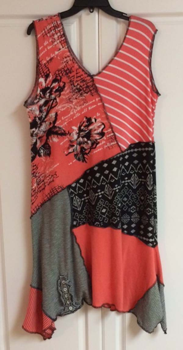 Coral and black Beach Dress by ChickSprings on Etsy
