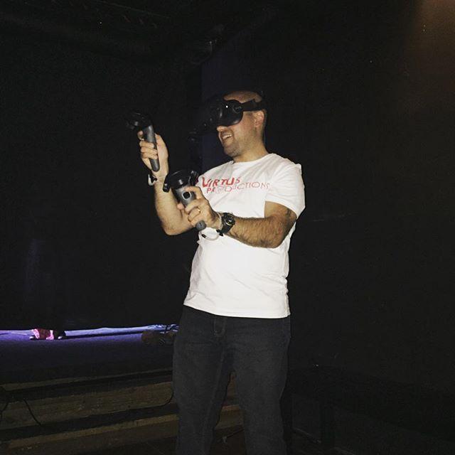 Virtus Productions' team at Santa Ana VR event. #virtusproductions #VR #360 #technology #vr360 #Games