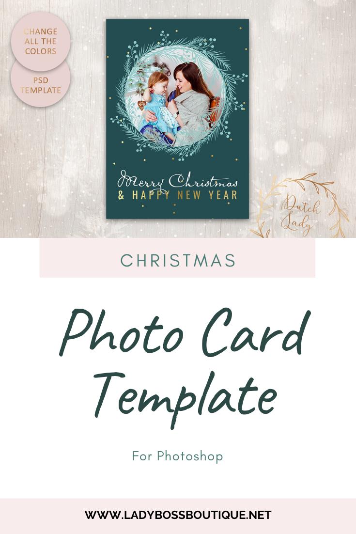 Psd Christmas Photo Card Template 8 Lady Boss Biz Boutique Christmas Photo Card Template Photo Card Template Christmas Photo Cards
